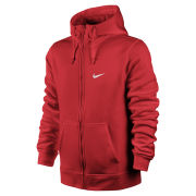 Nike Men's Club Full Zip Hoody - Challenge Red