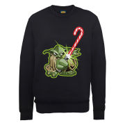 Star Wars Christmas Candy Cane Yoda Sweatshirt - Black