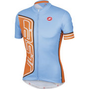 Castelli Formula Full Zip Jersey - Gulf Race - Blue/Orange
