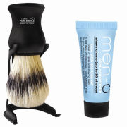 men-u Barbiere Shaving Brush and Stand - Black