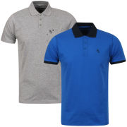 Ringspun Men's Mauler 2 - Pack Polos - Grey Marl & Royal