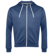 Brave Soul Men's Adrian Zip Through Hoody - Vintage Blue Marl
