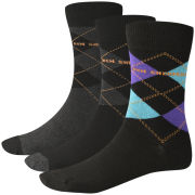 Ben Sherman Men's 3 Pack Sock - Argyle Print