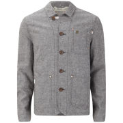 Farah 1920s Men's Work Jacket The Marriot - Dark Grey
