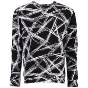 McQ Alexander McQueen Men's Clean Crew Neck Jumper - Dark Black Engraved