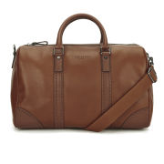 Ted Baker Men's Broguing Leather Holdall Bag - Tan