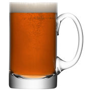 Beer Tankard 750ml Clear