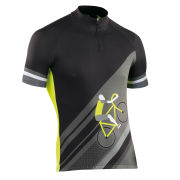Northwave Men's Share The Road Short Sleeve Jersey - Black/Yellow