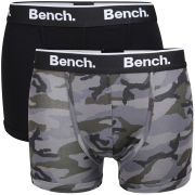 Bench Men's 2-Pack Camo Boxer - Black/Grey