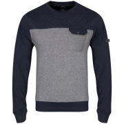 Bench Men's Arreston Crew Neck Sweatshirt - Peacoat Navy