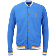 Brave Soul Men's Crew Neck Quilted Sweatshirt - Royal