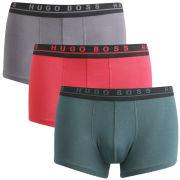 BOSS Black Men's 3-Pack Trunks - Red/Green/Grey