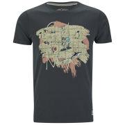 Jack & Jones Mens Rose T-Shirt - Pirate Black