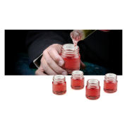 Mixology Mason Jar Shot Glasses - Set of 4
