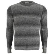 J.Lindeberg Men's Nash Degrade Lightweight Yarn Knit - Grey Melange
