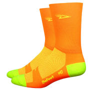 DeFeet Aireator Hi Vis Tall Socks - Orange/Yellow
