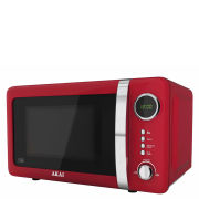 Akai 700W Digital Microwave - Red