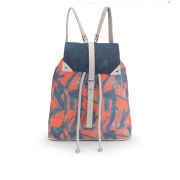 Kate Sheridan Printed Rucksack - Orange
