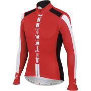 Castelli AR Long Sleeve Full Zip Jersey - Red/Black/White