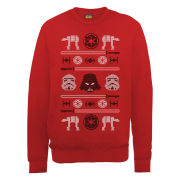 Star Wars - Christmas Imperial Knit Effect Sweatshirt - Red