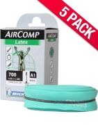 Michelin Aircomp Latex Road Inner Tube - Pack of 5 Short Valve One Colour Short Valve