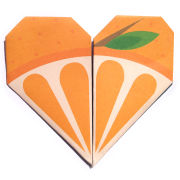 Lollipop Origami Notepaper Set: Orange