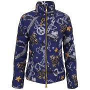 Love Moschino Women's Print Puffer Down Jacket - Blue Print