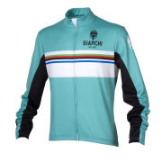 Bianchi Men's Saldura Long Sleeve Full Zip Jersey - Celeste/White