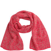 Codello Women's Winter Wonderland Knitted Melange Scarf - Orange
