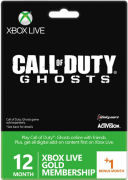 Xbox Live 12 Month Gold Membership + 1 Month Free (Call of Duty: Ghosts Packaging)