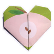 Lollipop Origami Notepaper Set: Apple