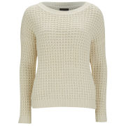 VILA Women's Dexley Knitted Jumper - White