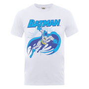DC Comics Men's T-Shirt Batman Leap - White