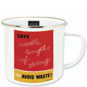 Postal Archive Enamel Mug - Avoid Waste!