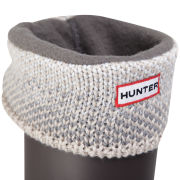 Hunter Women's Bird Eye Cuff Welly Socks - Beige/Grey