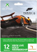 Xbox Live 12 Month Gold Membership + 1 Month Free (Forza Motorsport 5 Packaging)