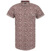Soul Star Men's Leopard Shirt - Rust
