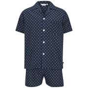 Derek Rose Men's Nelson 48 Shortie Pyjama Set - Navy
