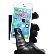 Touchies Leather Touchscreen Gloves - Medium - Black