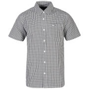 Atticus Men's Equal Ginham Short Sleeve Shirt - Black/Light Grey