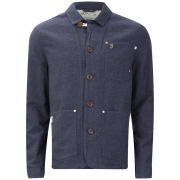 Farah 1920s Men's Work Jacket The Marriot - Deep Indigo
