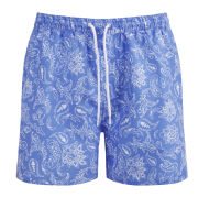 French Connection Men's Northern Swimmers Paisley Cashmere - Cashmere Blue/White