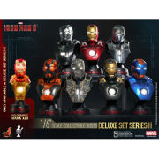 Hot Toys Marvel Iron Man 3 Series 2 Set Of Eight Collectible Busts