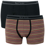 Paul Smith Accessories Men's 2 Pack Boxers - Multi Stripe/Black