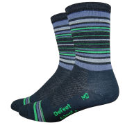 DeFeet Wooleator Cavendish 5 inch Cuff Socks - Black/Multi