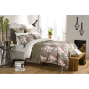Rose Bouquet Duvet Cover - Mocha