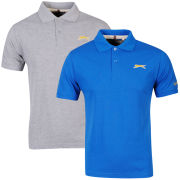 Slazenger Men's 2-Pack Polos - Grey/Blue