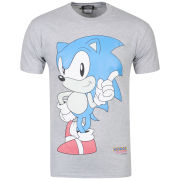Joystick Junkies Men's Sonic T-Shirt - Grey Marl