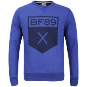Boxfresh Men's Halixaft Graphic Printed Crew Neck Sweatshirt - Blue Marl