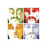 The Beatles Sea of Science - 40 x 40cm Print